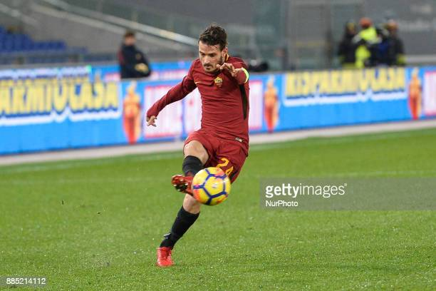Alessandro Florenzi during the Italian Serie A football match between AS Roma and Spal at the Olympic Stadium in Rome on december 01 2017