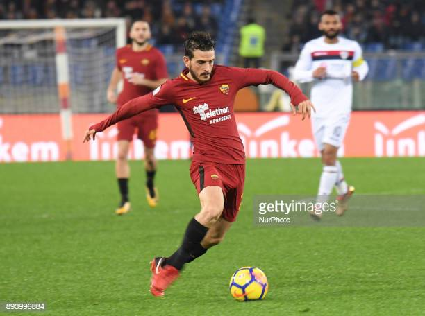 Alessandro Florenzi during the Italian Serie A football match between AS Roma and Cagliari at the Olympic Stadium in Rome on december 16 2017