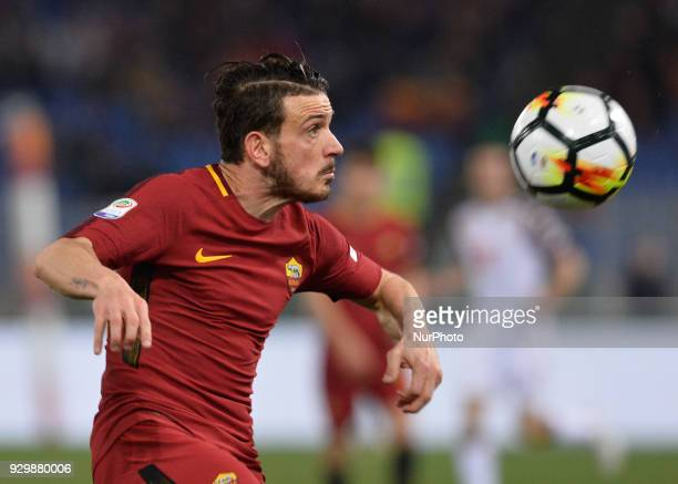Alessandro Florenzi during the Italian Serie A football match between AS Roma and FC Torino at the Olympic Stadium in Rome on march 09 2018