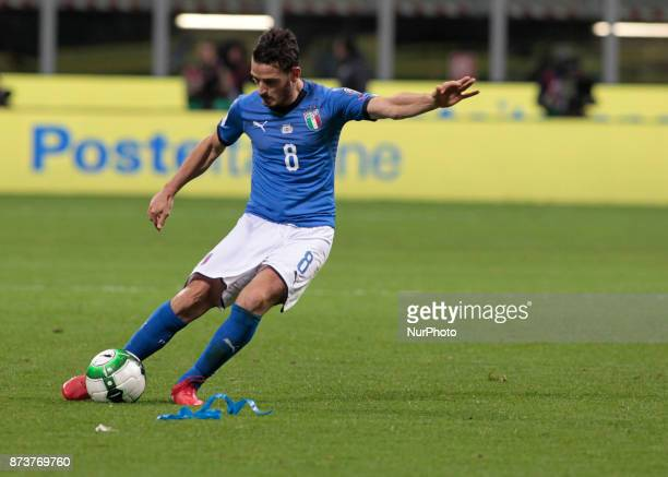 Alessandro Florenzi during the playoff match for qualifying for the Football World Cup 2018 between Italia v Svezia in Milan on November 13 2017