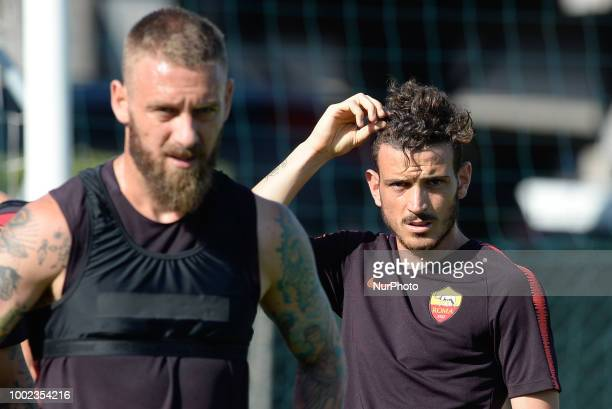 Alessandro Florenzi during training session open to the fans of AS Roma preseason retreat at Stadio Tre Fontane on july 19 2018 in Rome Italy