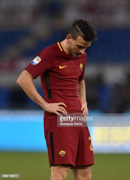 Alessandro Florenzi of AS Roma after the serie A match between AS Roma and US Sassuolo at Stadio Olimpico on December 30 2017 in Rome Italy