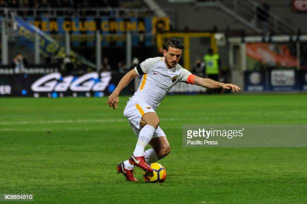 Alessandro Florenzi of AS Roma during Serie A football FC Inter versus AS Roma FC inter and AS Roma finish the match 11