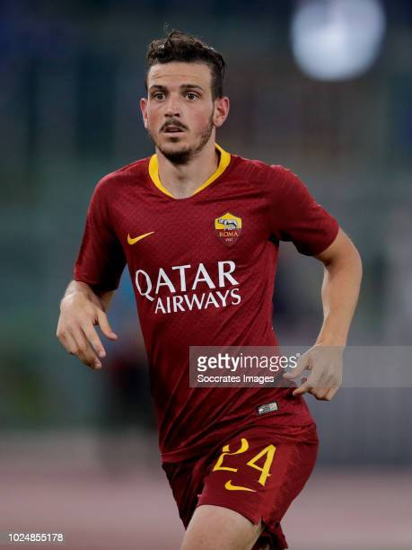 Alessandro Florenzi of AS Roma during the Italian Serie A match between AS Roma v Atalanta Bergamo at the Stadio Olimpico Rome on August 27 2018 in...