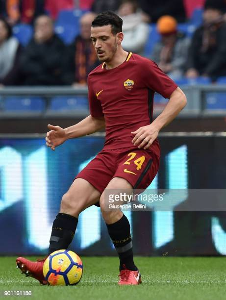 Alessandro Florenzi of AS Roma during the serie A match between AS Roma and US Sassuolo at Stadio Olimpico on December 30 2017 in Rome Italy