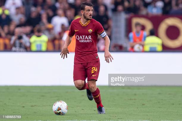 Alessandro Florenzi of AS Roma during the Serie A match between Lazio and AS Roma at Stadio Olimpico Rome Italy on 1 September 2019