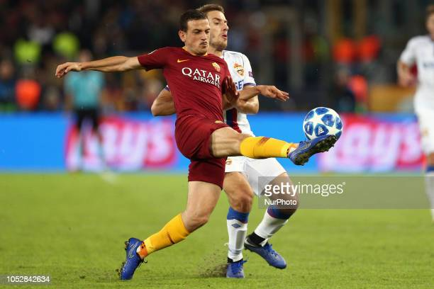 Alessandro Florenzi of AS Roma during the UEFA Champions League group G match between AS Roma and PFC CSKA Moscow at Stadio Olimpico on October 23...