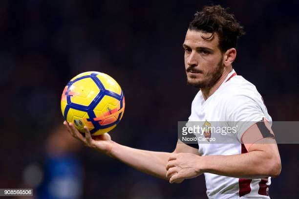 Alessandro Florenzi of AS Roma gestures during the Serie A football match between FC Internazionale and AS Roma The match ended in a 11 tie