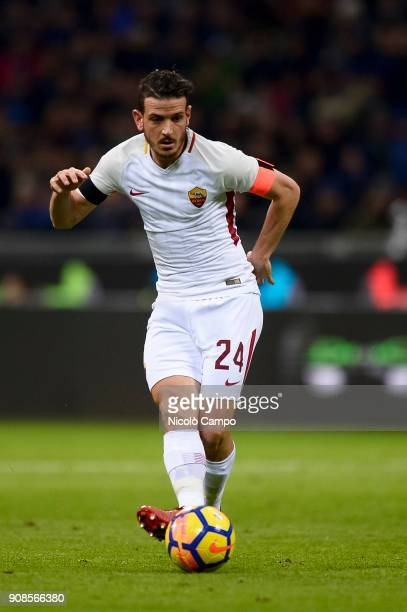 Alessandro Florenzi of AS Roma in action during the Serie A football match between FC Internazionale and AS Roma The match ended in a 11 tie