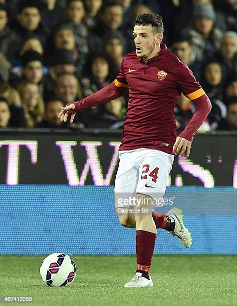 Alessandro Florenzi of AS Roma in action during the Serie A match between AC Cesena and AS Roma at Dino Manuzzi Stadium on March 22 2015 in Cesena...