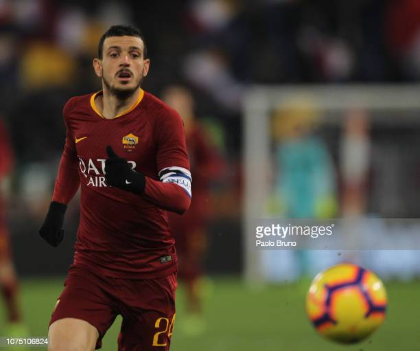 Alessandro Florenzi of AS Roma in action during the Serie A match between AS Roma and US Sassuolo at Stadio Olimpico on December 26 2018 in Rome Italy