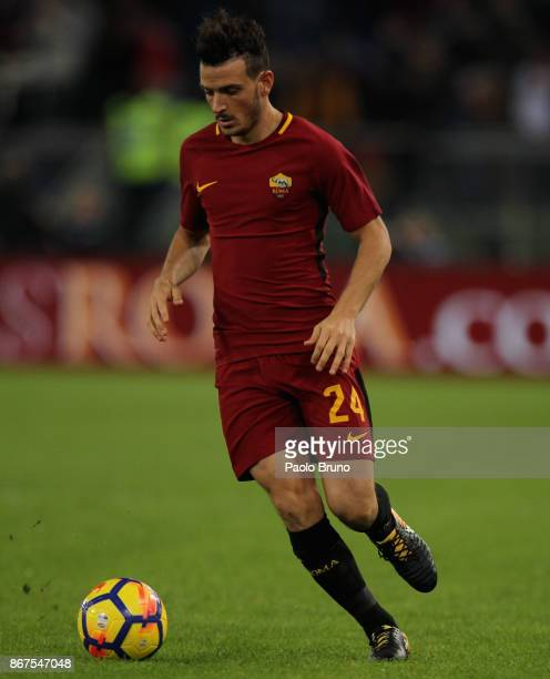 Alessandro Florenzi of AS Roma in action during the Serie A match between AS Roma and Bologna FC at Stadio Olimpico on October 28 2017 in Rome Italy