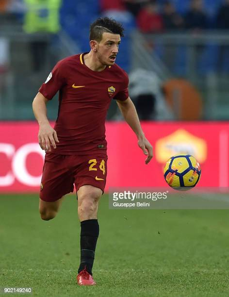 Alessandro Florenzi of AS Roma in action during the serie A match between AS Roma and US Sassuolo at Stadio Olimpico on December 30 2017 in Rome Italy