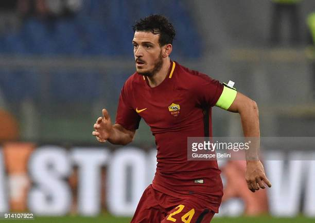 Alessandro Florenzi of AS Roma in action during the serie A match between AS Roma and UC Sampdoria at Stadio Olimpico on January 28 2018 in Rome Italy