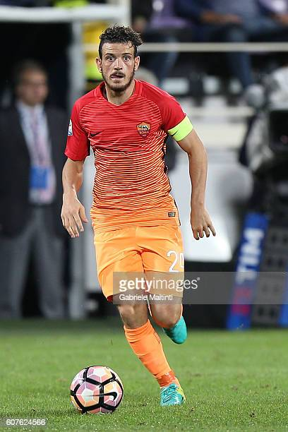 Alessandro Florenzi of AS Roma in action during the Serie A match between ACF Fiorentina and AS Roma at Stadio Artemio Franchi on September 18 2016...