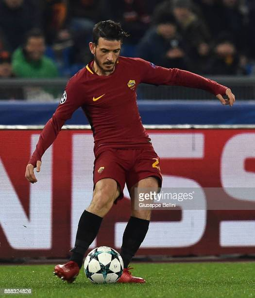 Alessandro Florenzi of AS Roma in action during the UEFA Champions League group C match between AS Roma and Qarabag FK at Stadio Olimpico on December...