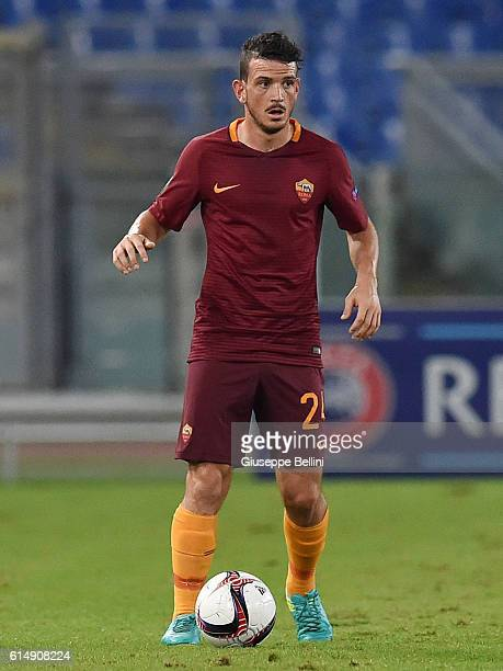 Alessandro Florenzi of AS Roma in action during the UEFA Europa League match between AS Roma and FC Astra Giurgiu at Olimpico Stadium on September 29...