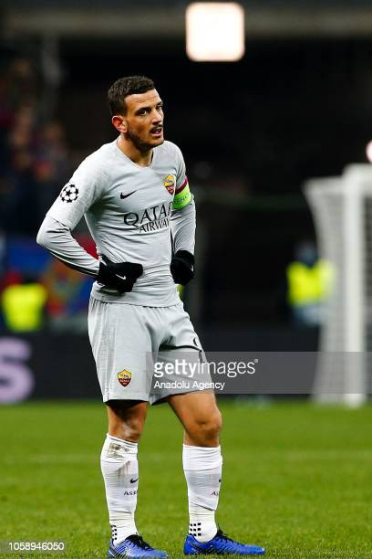 Alessandro Florenzi of AS Roma is seen during UEFA Champions League Group G soccer match between CSKA Moscow and AS Roma at the Luzhniki Stadium in...