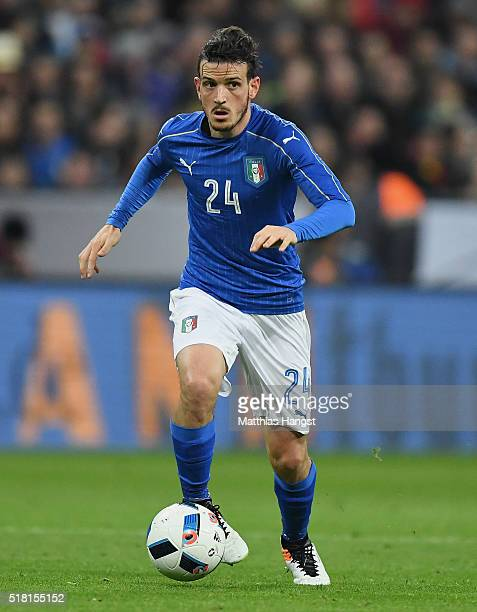 Alessandro Florenzi of Italy controls the ball during the International Friendly match between Germany and Italy at Allianz Arena on March 29 2016 in...