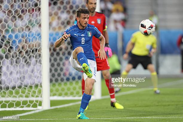 Alessandro Florenzi of Italy during the UEFA Euro 2016 Quater Final between Germany and Italy at Stade Matmut Atlantique on July 2 2016 in Bordeaux...