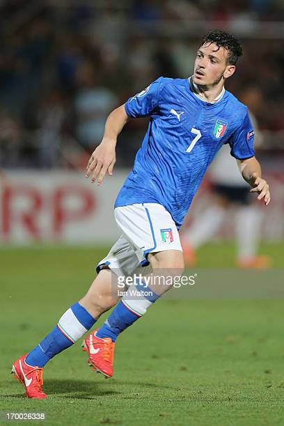 Alessandro Florenzi of Italy during the UEFA European U21 Championships Group A match between England and Italy at the Bloomfield Stadium on June 5...