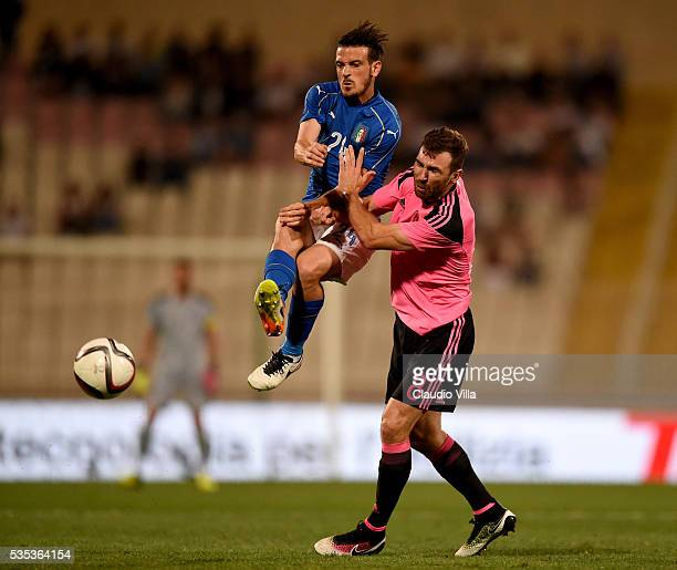 Alessandro Florenzi of Italy in action during the international friendly between Italy and Scotland on May 29 2016 in Malta Malta
