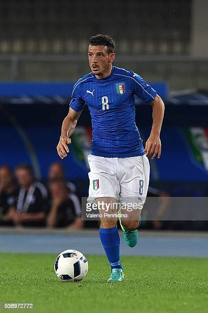 Alessandro Florenzi of Italy in action during the international friendly match between Italy and Finland on June 6 2016 in Verona Italy