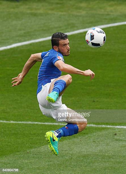 Alessandro Florenzi of Italy in action during the UEFA EURO 2016 Group E match between Italy and Sweden at Stadium Municipal on June 17 2016 in...