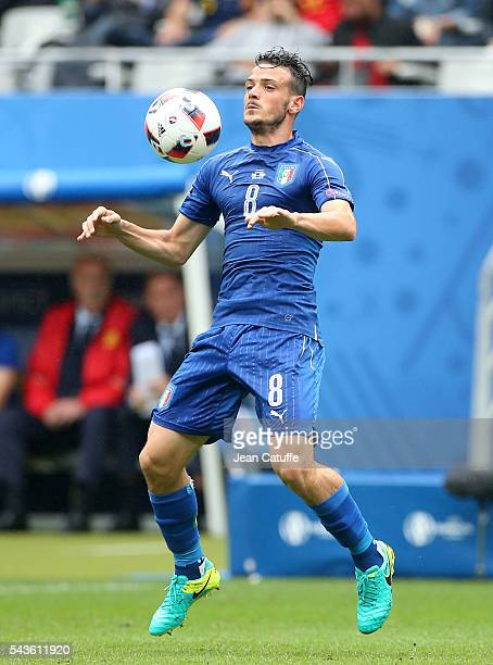 Alessandro Florenzi of Italy in action during the UEFA Euro 2016 round of 16 match between Italy and Spain at Stade de France on June 27 2016 in...