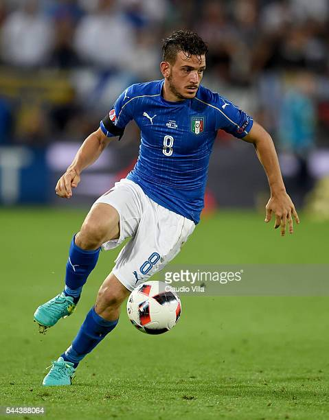 Alessandro Florenzi of Italy in action during the UEFA Euro 2016 quarter final match between Germany and Italy at Stade Matmut Atlantique on July 2...