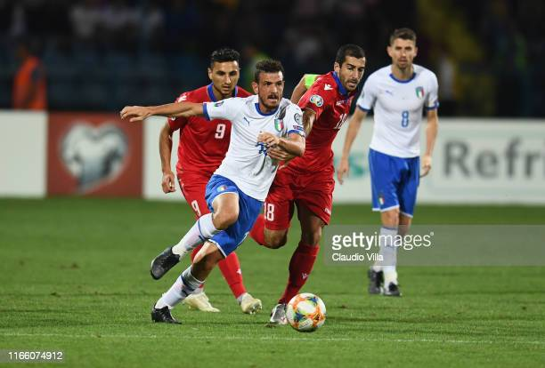Alessandro Florenzi of Italy in action during the UEFA Euro 2020 qualifier between Armenia and Italy at Republican Stadium after Vazgen Sargsyan on...