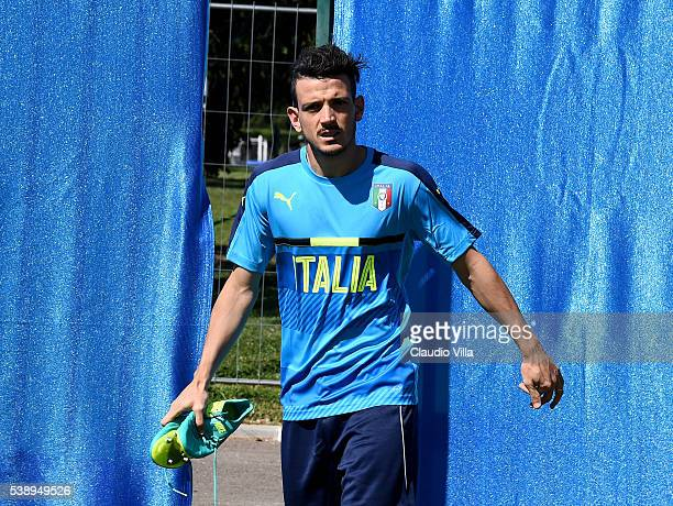 Alessandro Florenzi of Italy looks on prior to the training session on June 9 2016 in Montpellier France