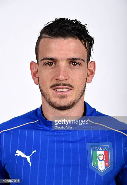 Alessandro Florenzi of Italy poses during the official portrait session at Coverciano on November 10 2015 in Florence Italy