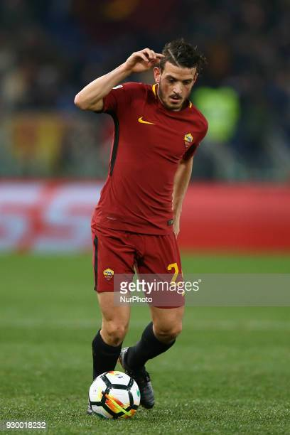 Alessandro Florenzi of Roma during the Italian Serie A football match between AS Roma and FC Torino at the Olympic Stadium in Rome Italy on March 9...