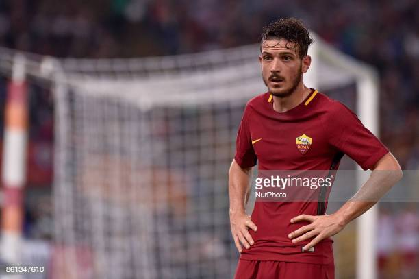Alessandro Florenzi of Roma during the Serie A match between Roma and Napoli at Olympic Stadium Roma Italy on 13 October 2017