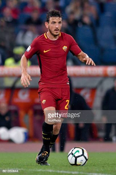 Alessandro Florenzi of Roma during the Serie A match between Roma and Napoli at Olympic Stadium Roma Italy on 14 October 2017