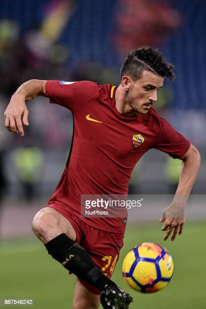 Alessandro Florenzi of Roma during the Serie A match between Roma and Bologna at Olympic Stadium Roma Italy on 28 October 2017