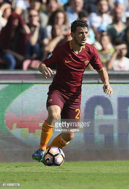 Alessandro Florenzi of Roma during the Serie A match between SSC Napoli and AS Roma at Stadio San Paolo on October 15 2016 in Naples Italy