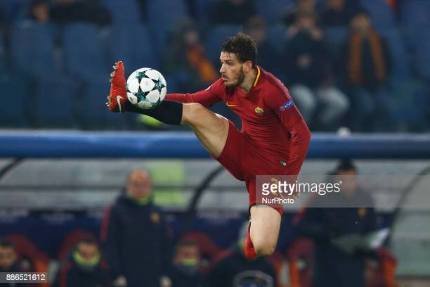 Alessandro Florenzi of Roma during the UEFA Champions League Group C football match AS Roma vs FK Qarabag on December 5 2017 at the Olympic stadium...