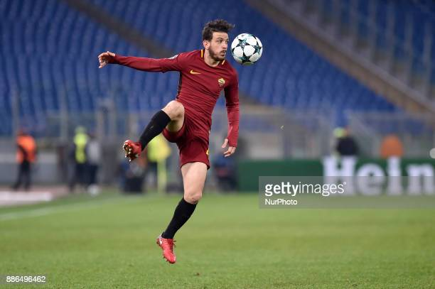 Alessandro Florenzi of Roma during the UEFA Champions League match between Roma and Qarabag at Stadio Olimpico Rome Italy on 5 December 2017