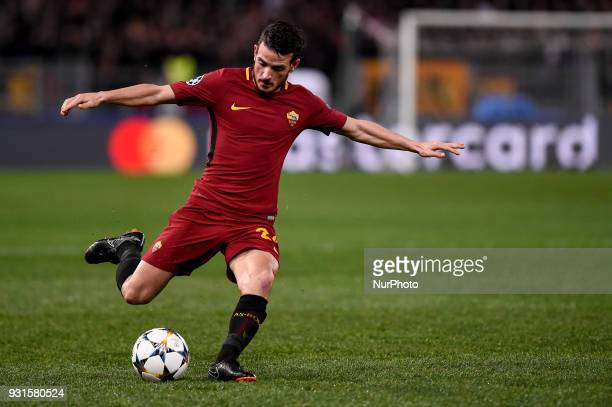 Alessandro Florenzi of Roma during the UEFA Champions League Round of 16 match between Roma and Shakhtar Donetsk at Stadio Olimpico Rome Italy on 13...