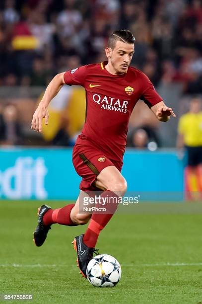 Alessandro Florenzi of Roma during the UEFA Champions League Semi Final match between Roma and Liverpool at Stadio Olimpico Rome Italy on 2 May 2018