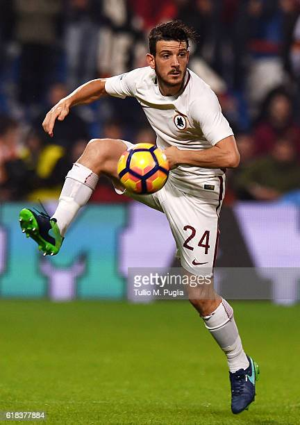 Alessandro Florenzi of Roma in action during the Serie A match between US Sassuolo and AS Roma at Mapei Stadium Citta' del Tricolore on October 26...
