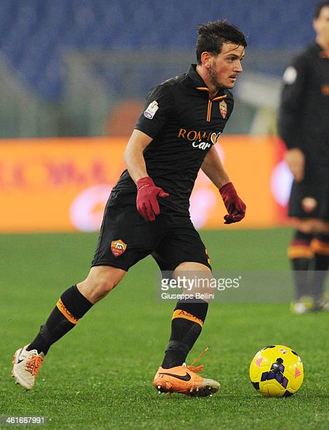 Alessandro Florenzi of Roma in action during the TIM Cup match between AS Roma and UC Sampdoria at Olimpico Stadium on January 9 2014 in Rome Italy