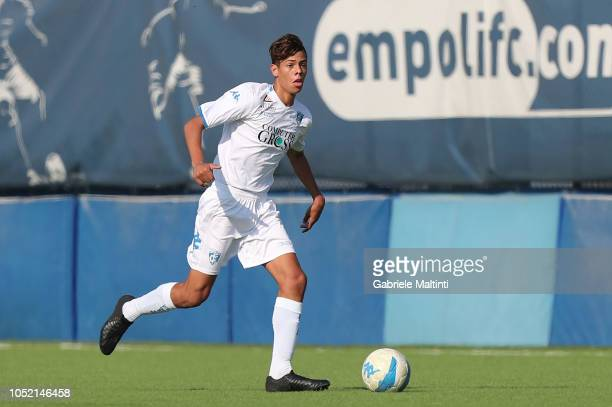 Alessandro Fontanarosa of Empoli U17 in action during the match between Empoli FC U17 and ACF Fiorentina U17 on October 14 2018 in Empoli Italy