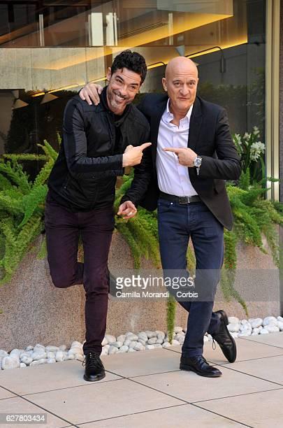 Alessandro Gassman and Claudio Bisio attend the 'Non C'e' Piu' Religione' Photocall In Rome on December 5, 2016 in Rome, Italy.