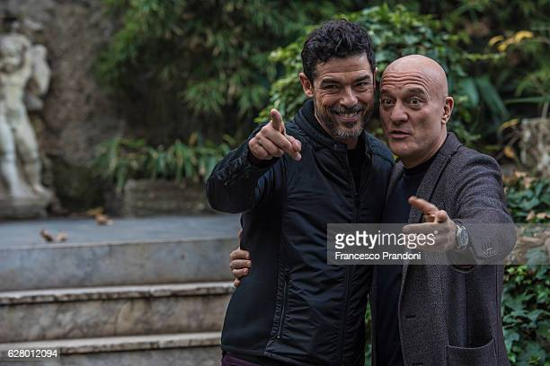 Alessandro Gassman and Claudio Bisio attends a photocall for 'Non C'e' Piu' Religione' on December 6 2016 at Hotel Manin in Milan Italy