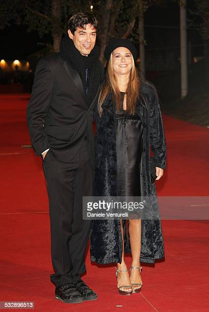 Alessandro Gassman and Sabrina Knaflitz attends the 'Un Principe Chiamato Toto' premiere during Day 6 of the 2nd Rome Film Festival on October 23...