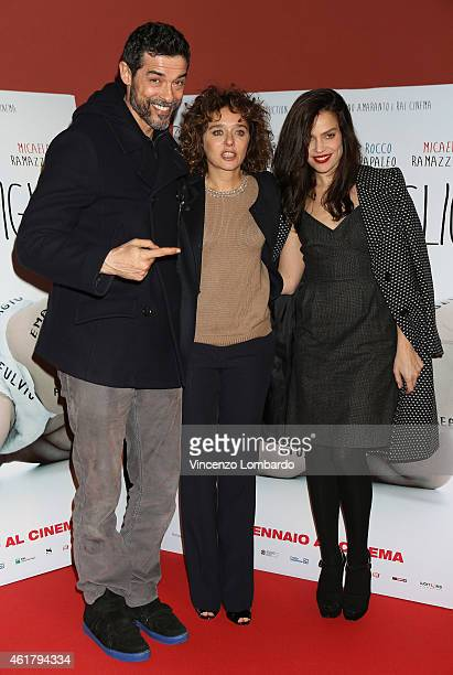 Alessandro Gassman Valeria Golino and Micaela Ramazzotti attend the IL NOME DEL FIGLIO Red Carpet and Photocall on January 19 2015 in Milan Italy