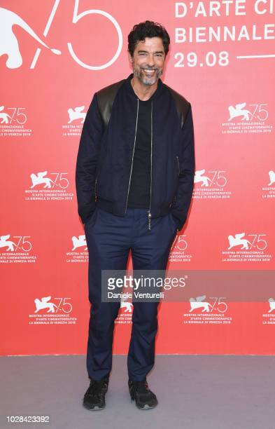 Alessandro Gassmann attends Una Storia Senza Nome photocall during the 75th Venice Film Festival at Sala Casino on September 7 2018 in Venice Italy